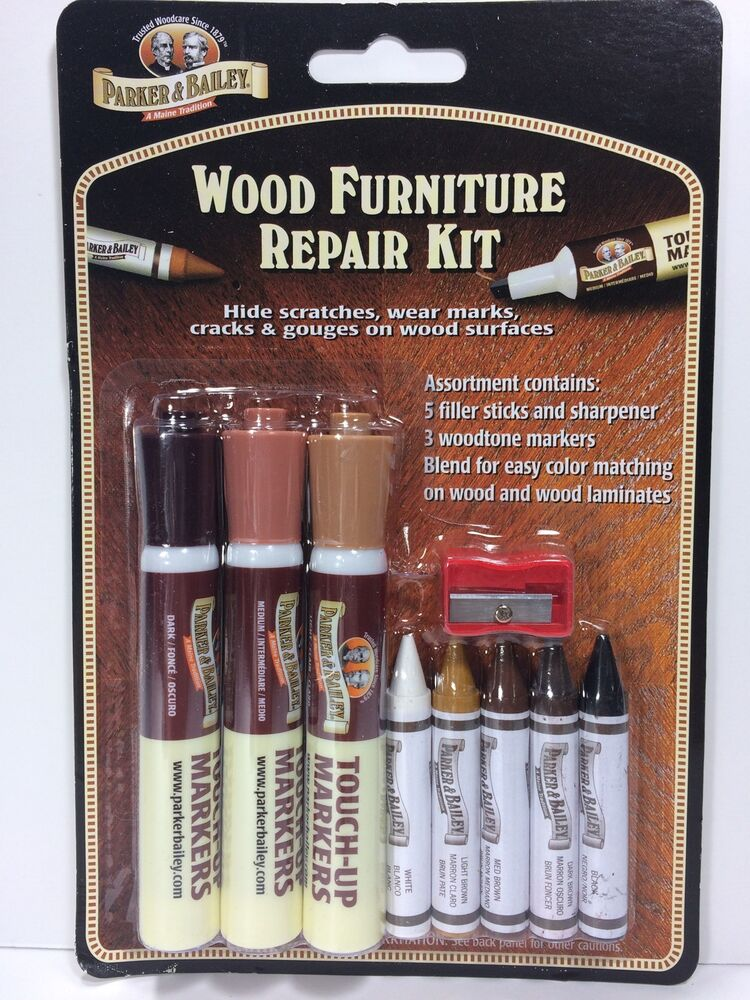 Parker And Bailey Wood Furniture Repair Kit Filler Sticks And Woodtone Markers Ebay