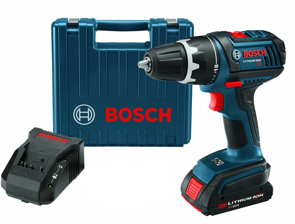 bosch cordless 1 2 drill driver kit 18 volt li ion new. Black Bedroom Furniture Sets. Home Design Ideas