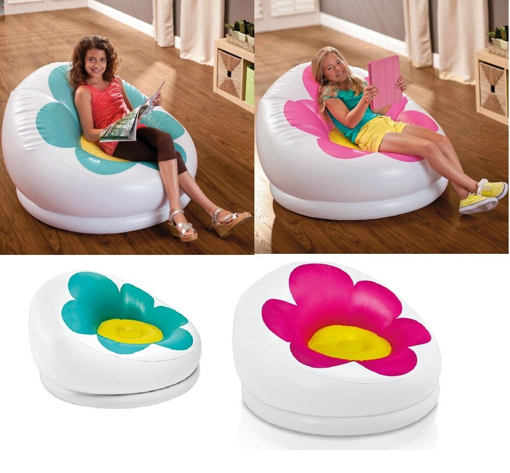 Inflatable Lawn Furniture: Inflatable Blossom Chair Lounge Seat Bean Bag Living Room