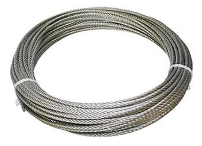 304 Stainless Steel Wire Rope Cable 5 32 7x19 50 Ft