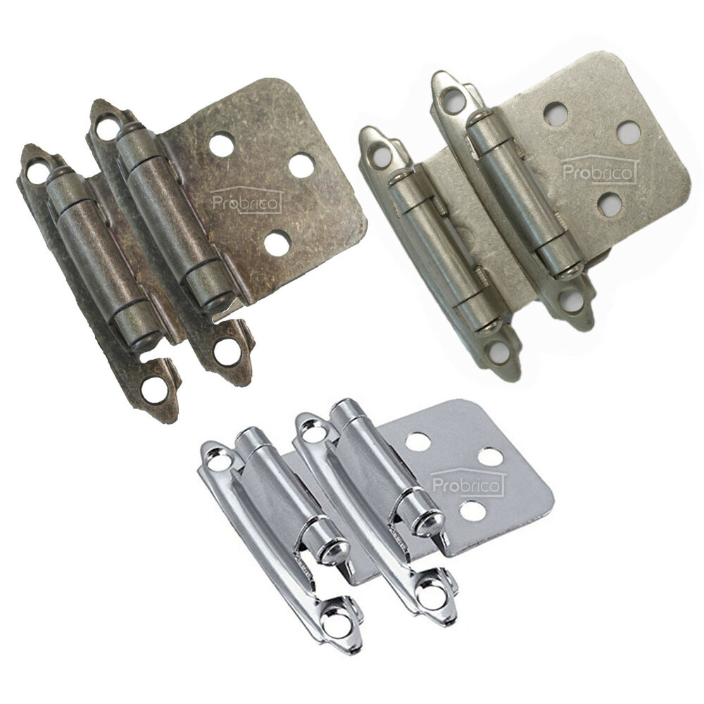Cabinet Box Door Hinges Stay Satin Nickel Polished Chrome