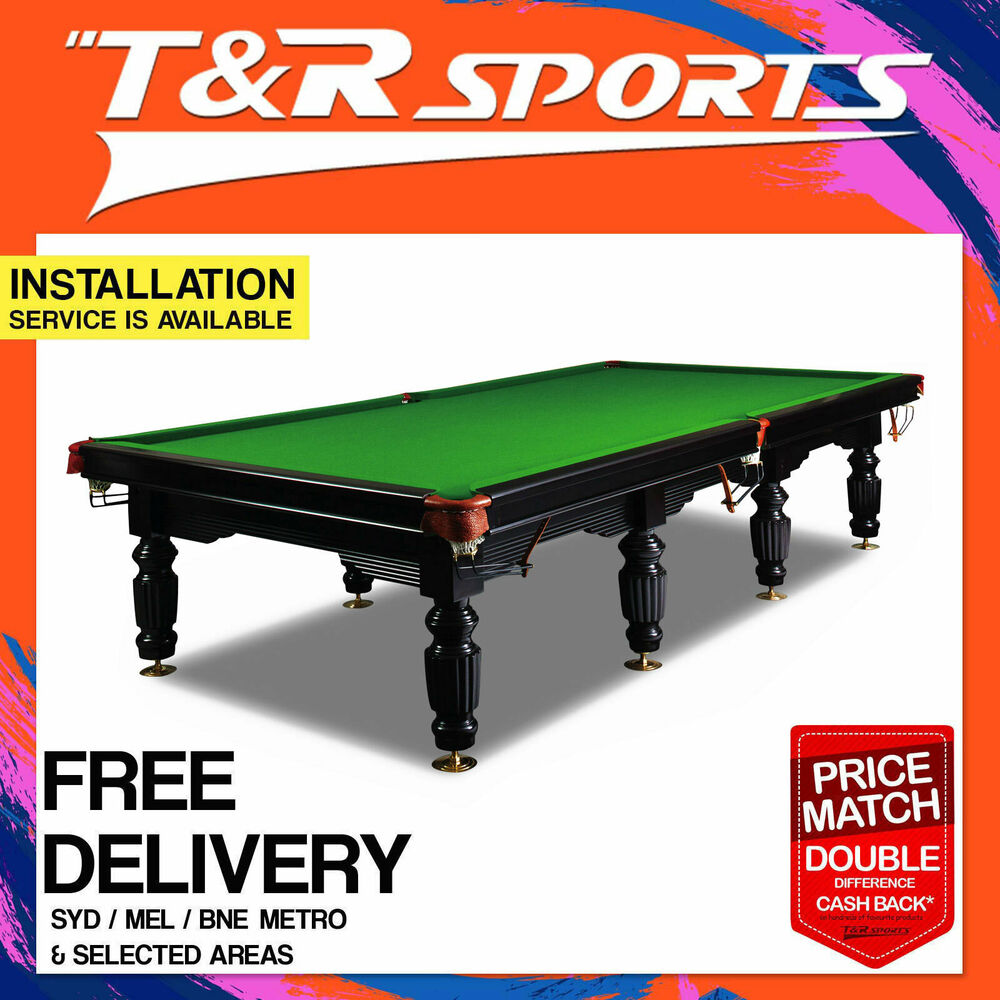 12ft full size timber slate snooker billiard table sale