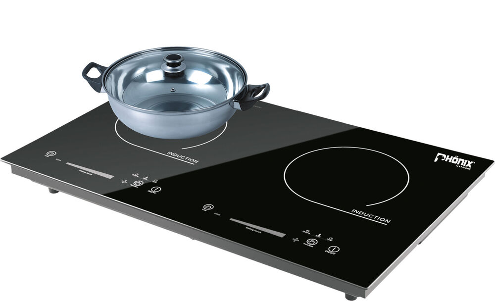 Double Induction Cooker ~ Double induction hob cooker hot platetouch control timer