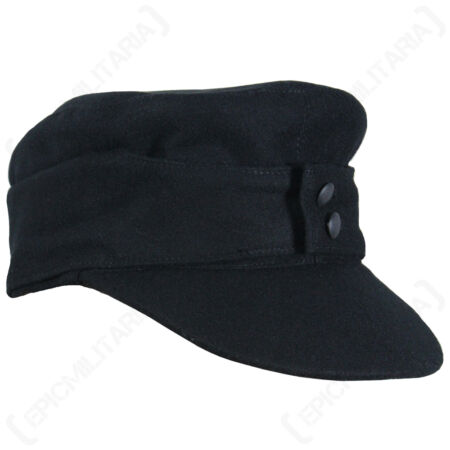 img-WW2 German Panzer M43 Field Cap - Repro Black Sun Hat Army Soldier Uniform