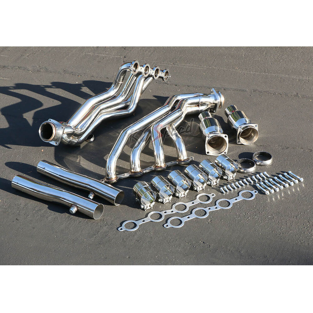 Ls v stainless steel long tube header exhaust