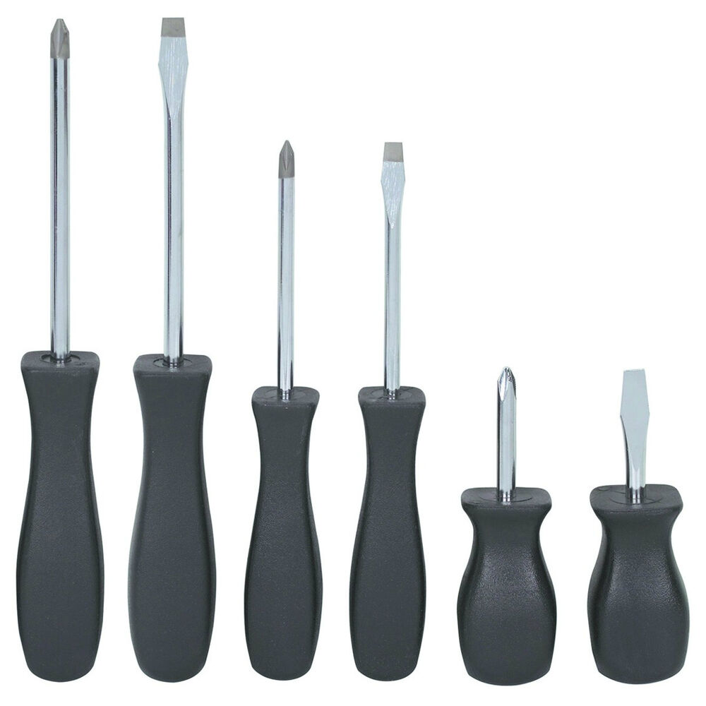 6 piece screwdriver set precision phillips slotted nonslip handles magnetic tip ebay. Black Bedroom Furniture Sets. Home Design Ideas