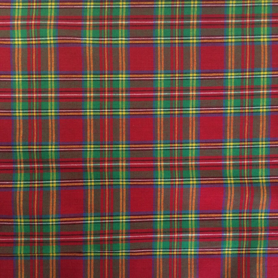 100 cotton madras plaid fabric by the yard red green style 1403 ebay. Black Bedroom Furniture Sets. Home Design Ideas