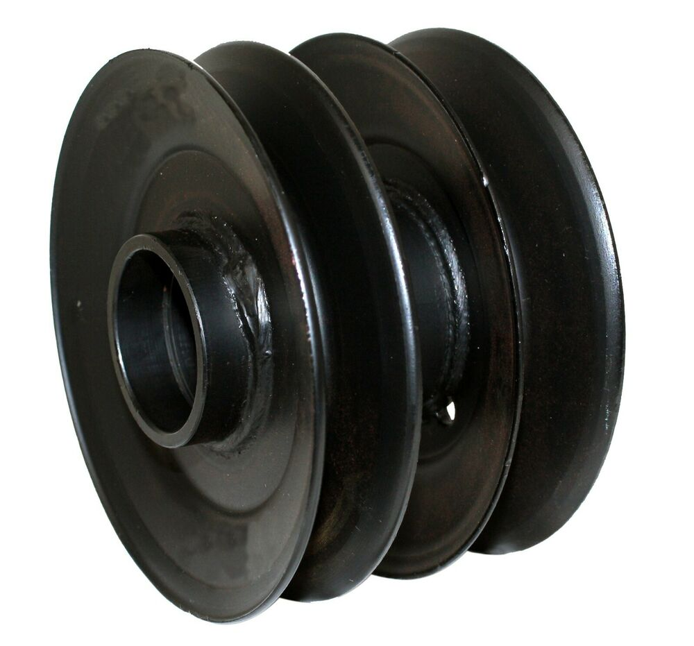 Yard Machine Pulleys : Quot rotary deck drive double pulley mtd yard machines