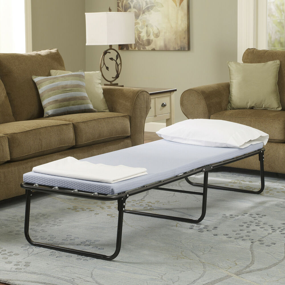 New Folding Bed Memory Foam Mattress Roll Away Guest Portable Sleeper Cot Ebay