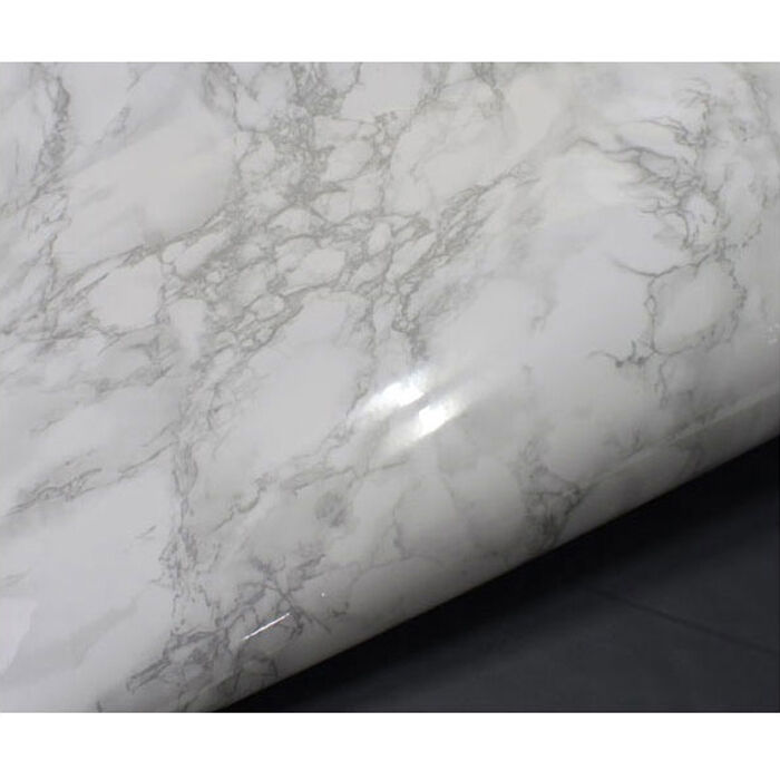 Granite Peel And Stick Sheets : White granite look marble effect counter top film self