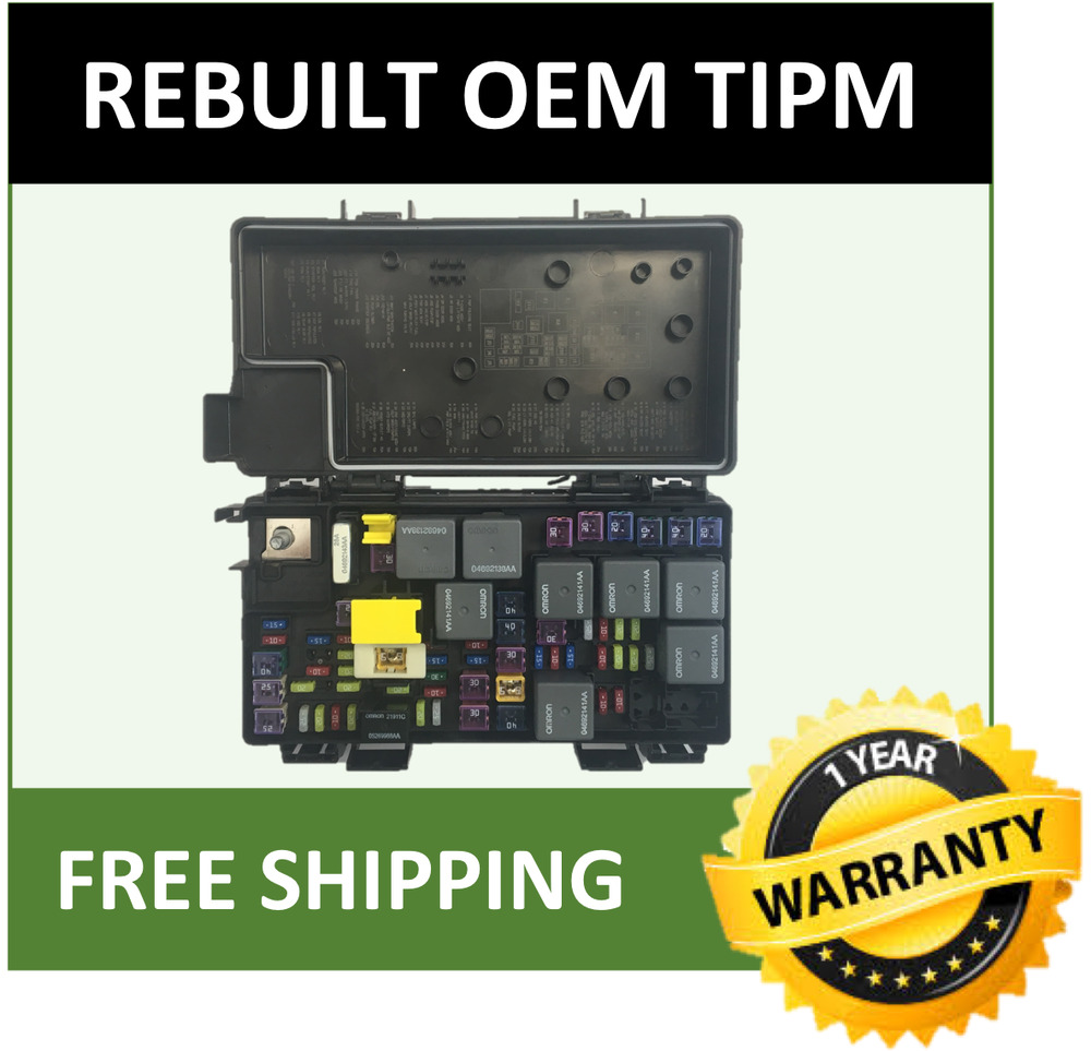 2011 chrysler town  u0026 country tipm    fuse box oem rebuilt