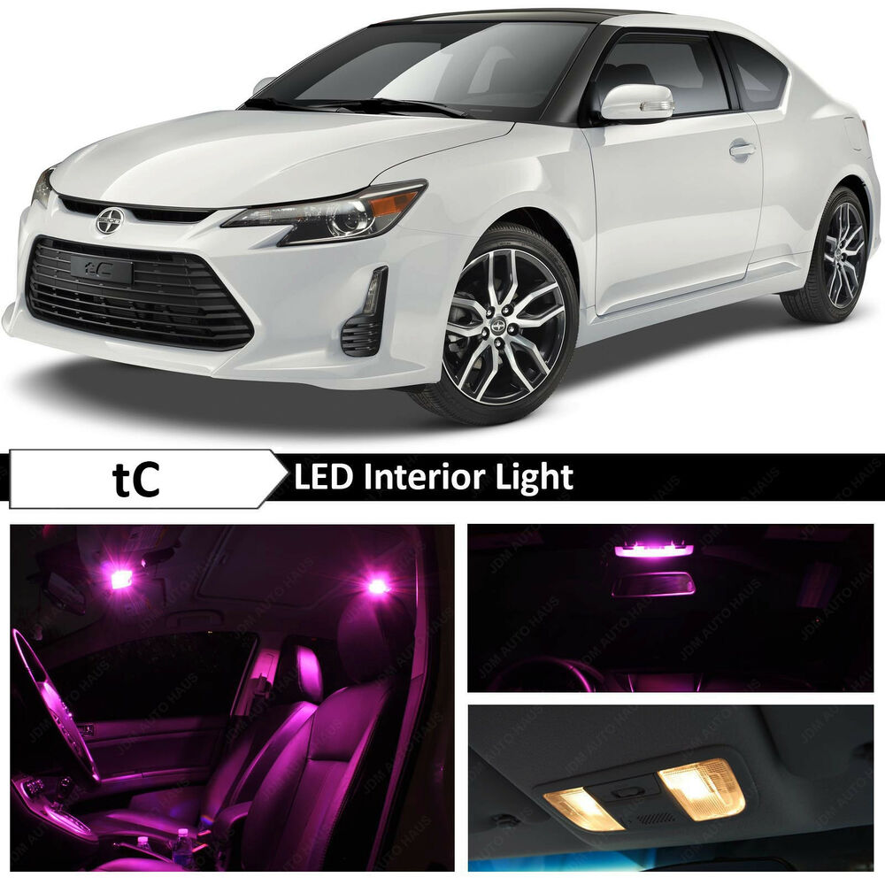 9x pink interior led lights package kit for 2005 2016 scion tc ebay. Black Bedroom Furniture Sets. Home Design Ideas
