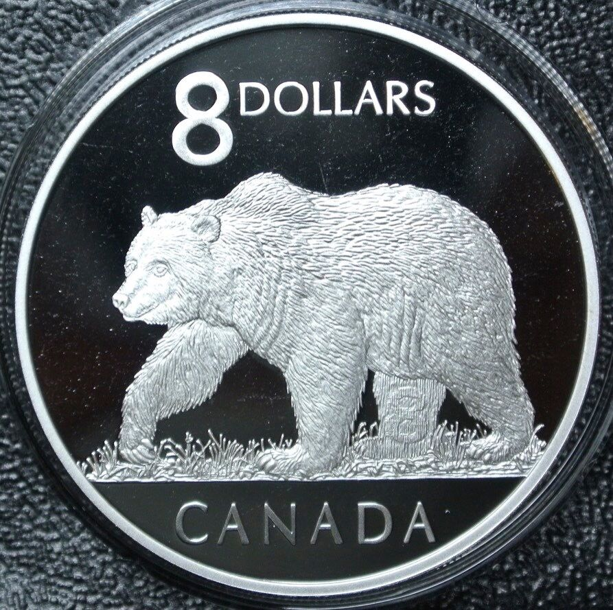 2004 Canada 8 Dollar 9999 Silver Proof Coin Amp The Great