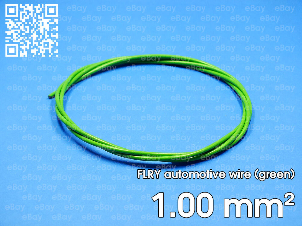 Automotive wire FLRY 1mm², green color, 1 meter length | eBay