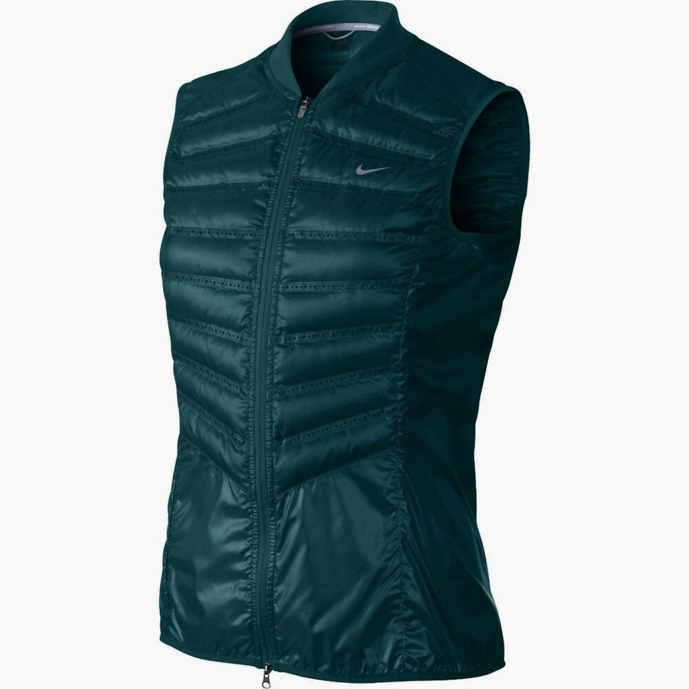 af96609c790b Details about Nike aeroloft Womens 800 fill Down runners Vest Teal Green  546673 380 Sz XS