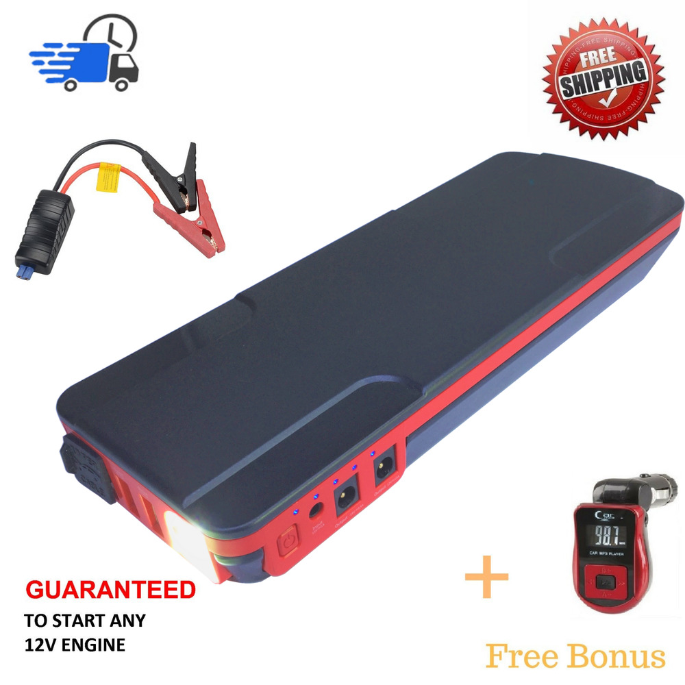 18000 mah 12v portable car jump starter battery booster. Black Bedroom Furniture Sets. Home Design Ideas