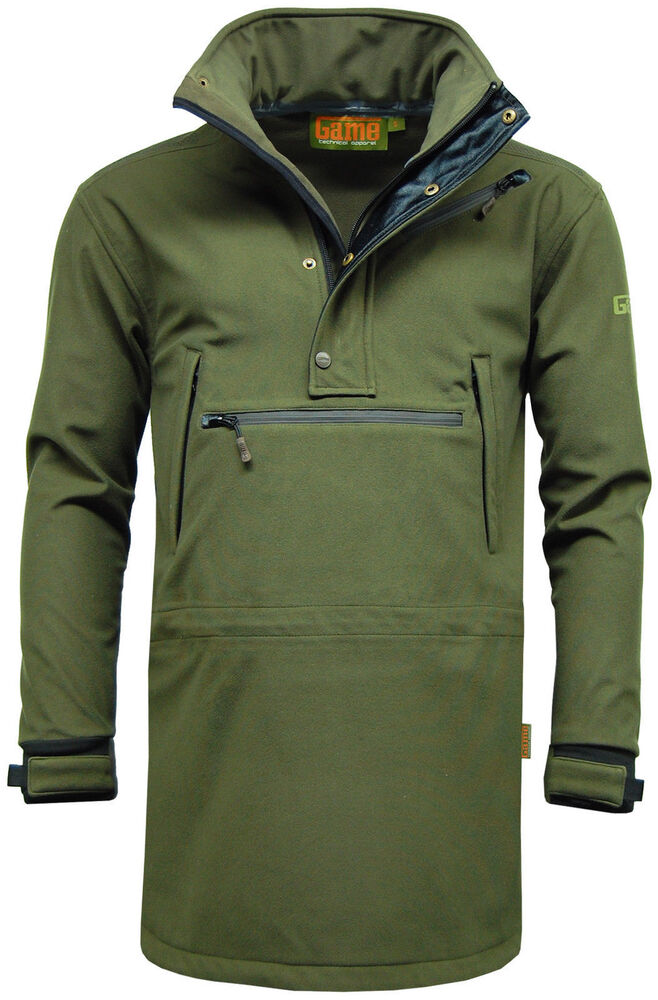 Mens game stalking smock jacket waterproof breathable for Waterproof fishing jacket