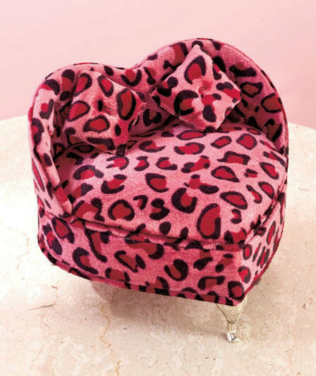 Aninimal Book: Animal Print Heart Shaped Jewelry Box Storage Organizer ...