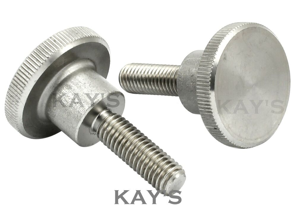 Knurled Thumb Screws Stainless Steel Hand Grip Knob Bolts