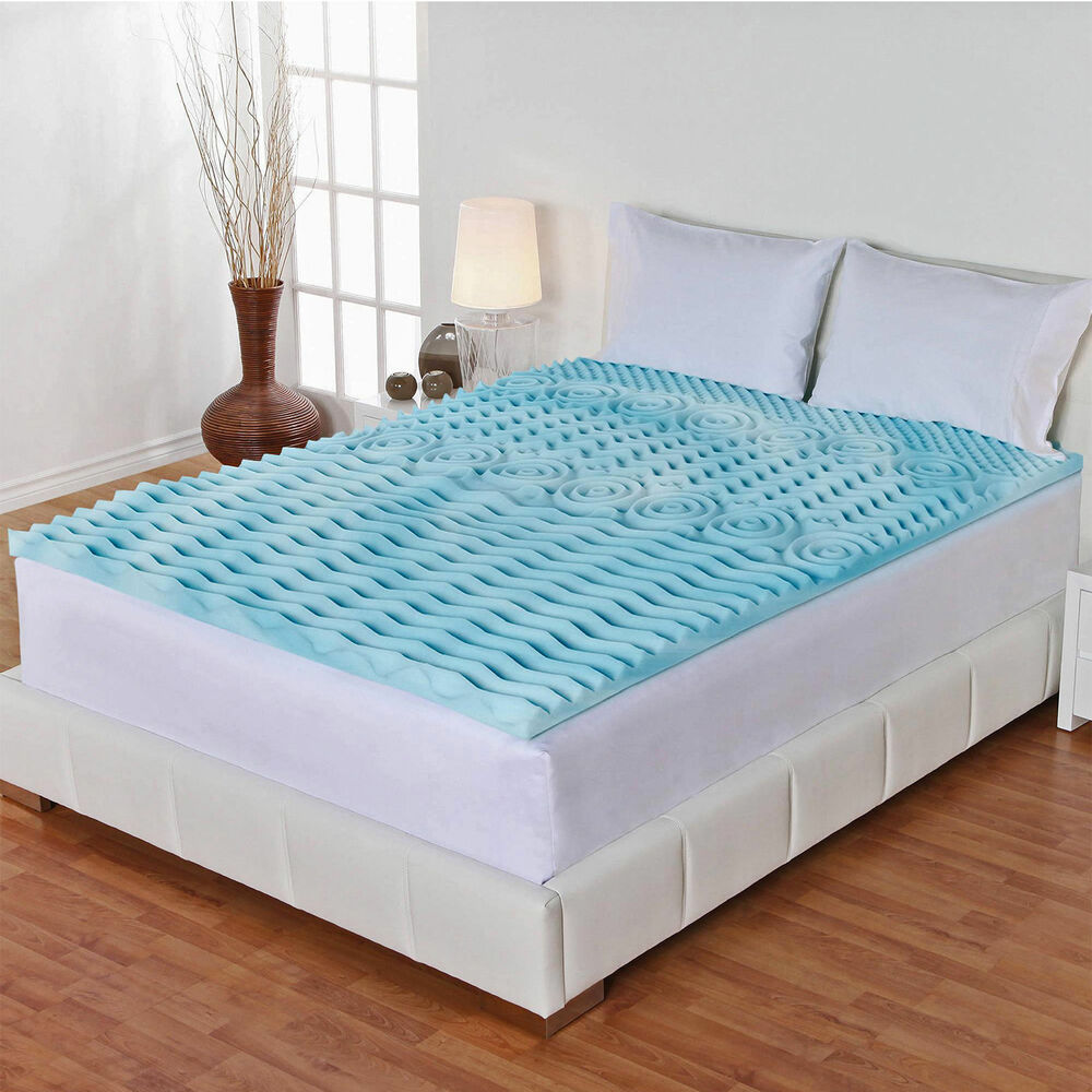 3 inch orthopedic queen size bed mattress topper gel foam protector cover pad ebay. Black Bedroom Furniture Sets. Home Design Ideas