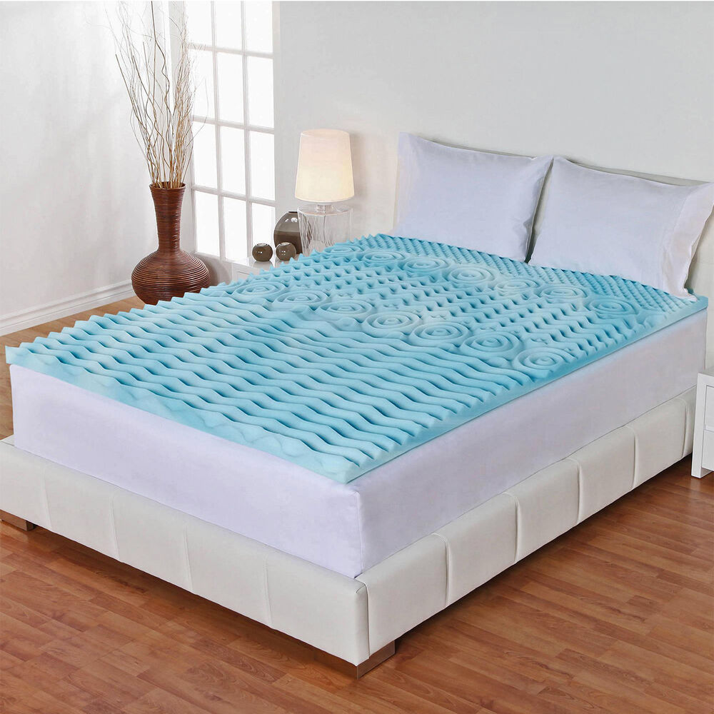 3 inch orthopedic queen size bed mattress topper gel foam protector cover pad ebay Queen mattress sizes