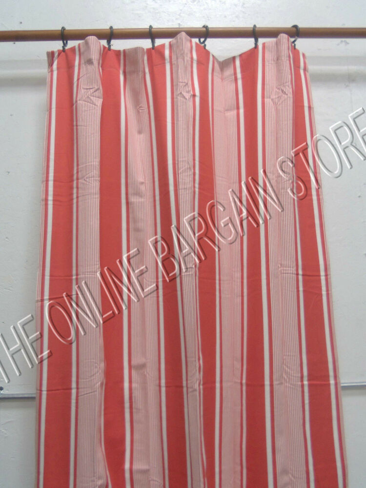 1 Pottery Barn Kids Bright Stripe Window Curtains Drapes Panels 50x84 Red Ebay