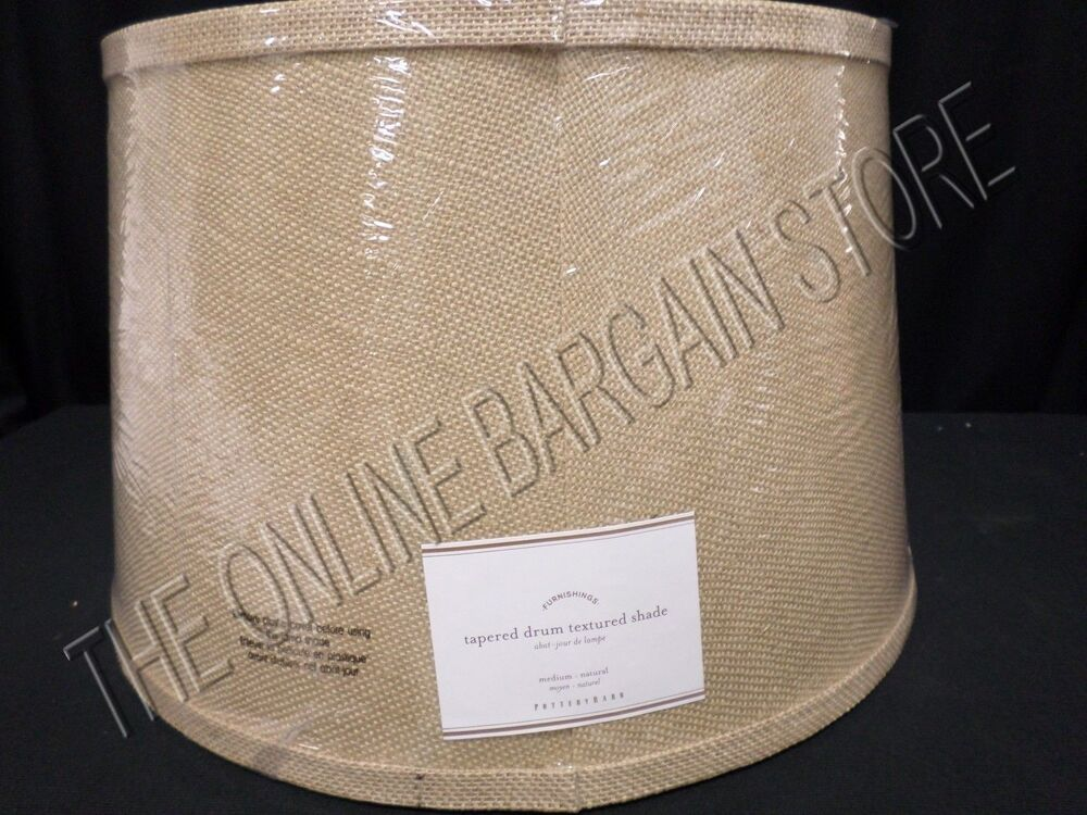 Pottery Barn Pb Tapered Drum Textured Table Floor Lamp