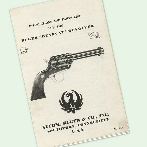 Ruger Bearcat Revolver Instructions Parts Owners Manual