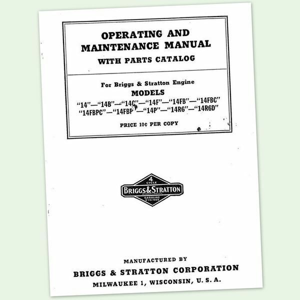 briggs and stratton 14r6d operators owners service repair briggs & stratton - quattro 40 engine service manual briggs & stratton - quattro 40 engine service manual