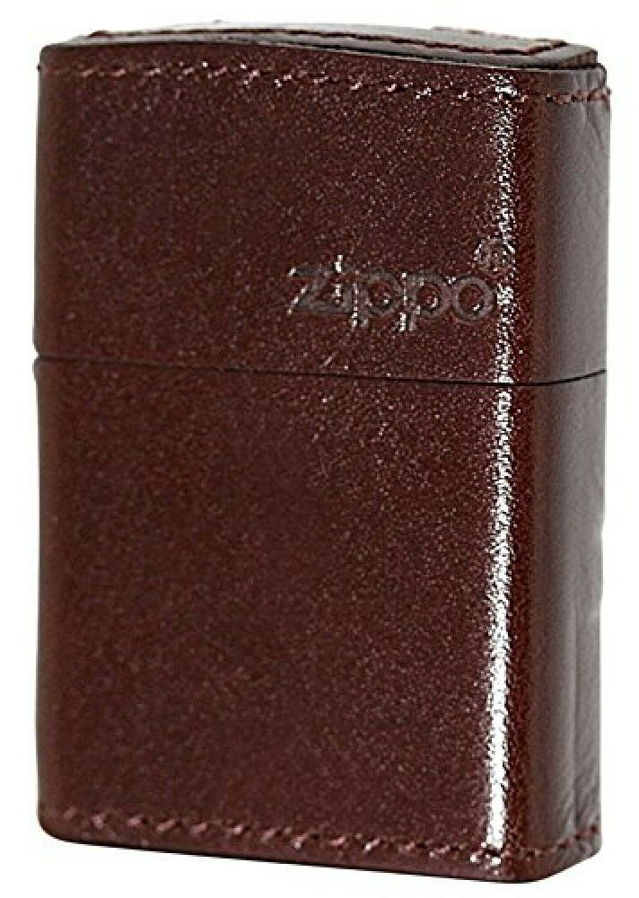 New Leather Zippo Light Brown Zippo Logo Cowhide Oil ...  New Leather Zip...