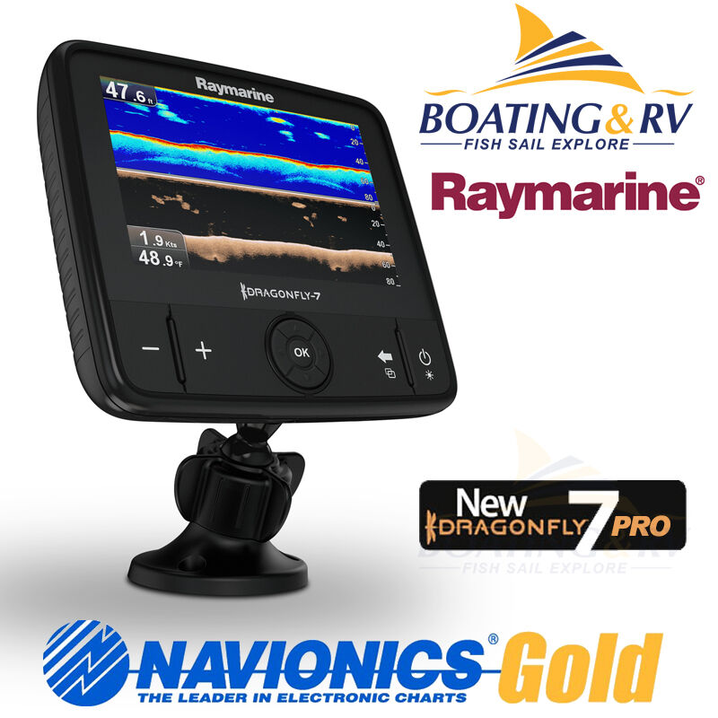 Raymarine Dragonfly 7 Pro Gps Combo With Chirp Transducer   Navionics Plus Maps