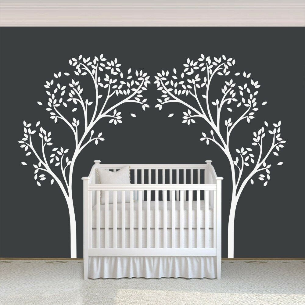 White tree Wall Decal Canopy Inspirational Removable Art ...