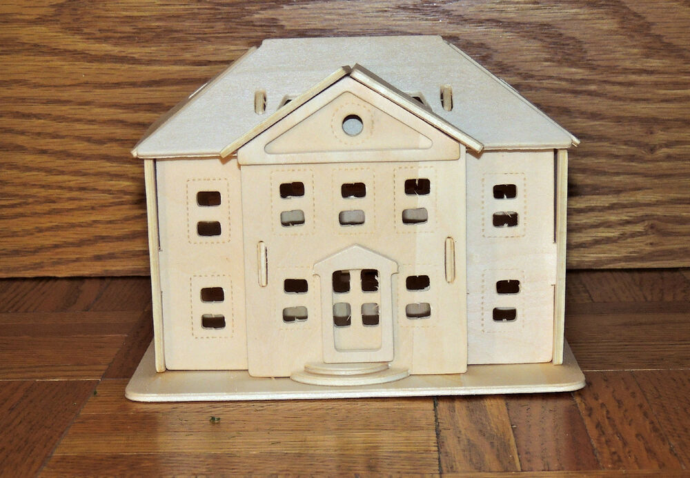 One 3d Wooden Kit 39 Country Mansion House 39 39 Ebay