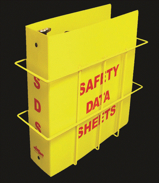 "OSHA Budget Right To Know Center 3"" SDS Binder & Wire Rack"