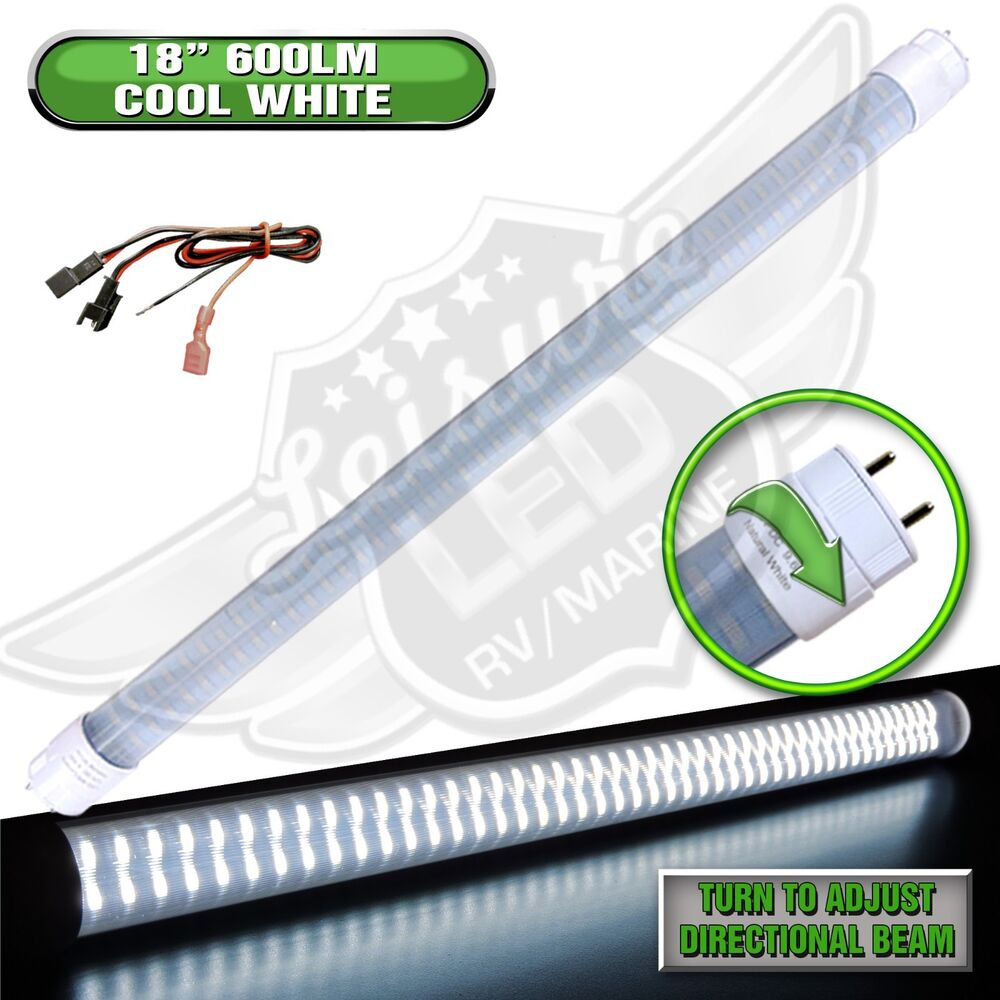 "Replace Boat Lights With Led: LED T8 Tube Replacement Light 18"" 600 LUMEN RV Marine"