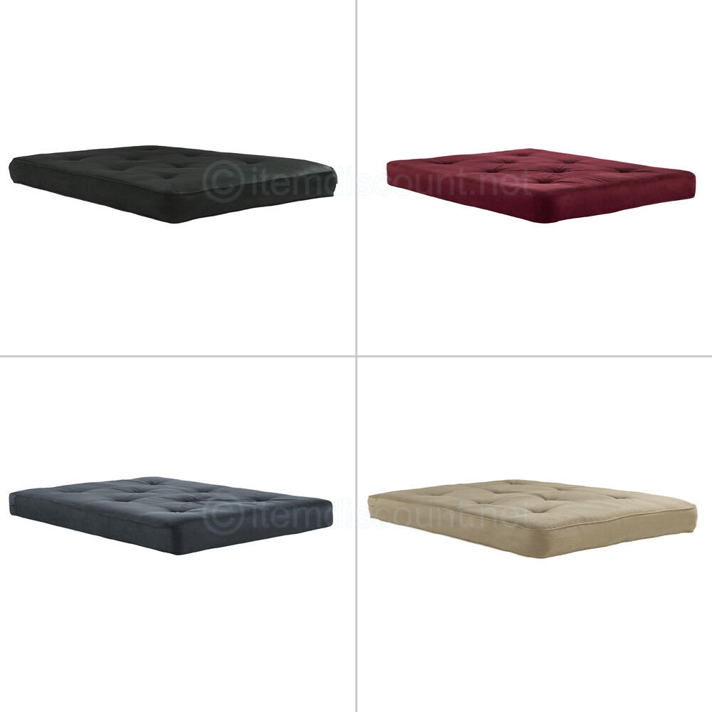 6 full tufted futon mattress bed foam pad topper cushion microfiber cover ebay Where to buy mattress foam