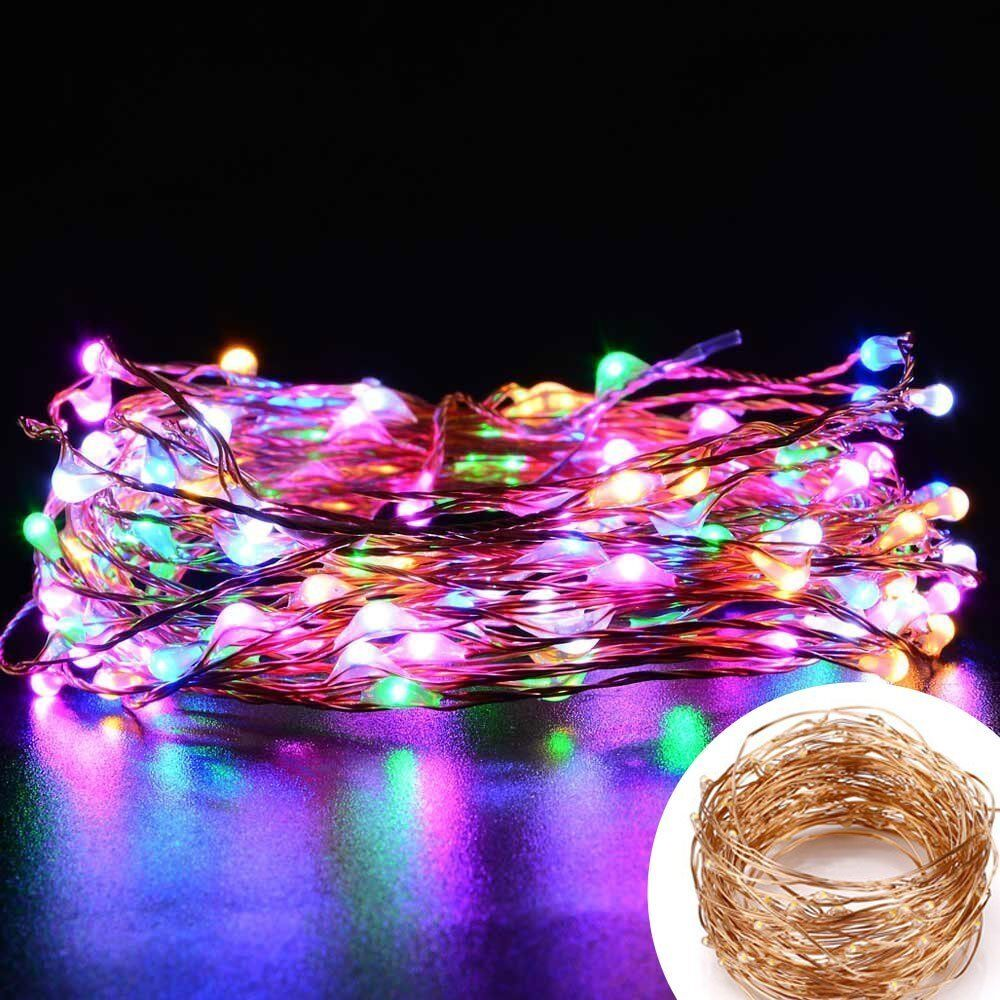 Outdoor String Lights That Change Colors : 10m LED RGB Multi-color Change 33ft Copper Wire Light Waterproof Outdoor String eBay