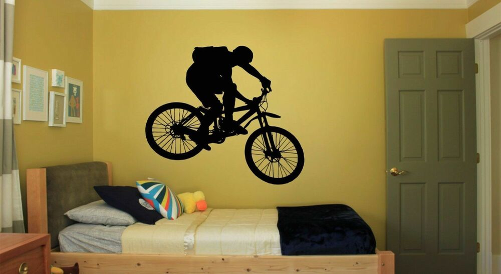 Wall Decal Sticker Bedroom Sport Bike Bmx Bicycle Riding
