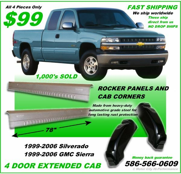 Rocker Panels And Cab Corners Chevy Silverado Gmc Sierra