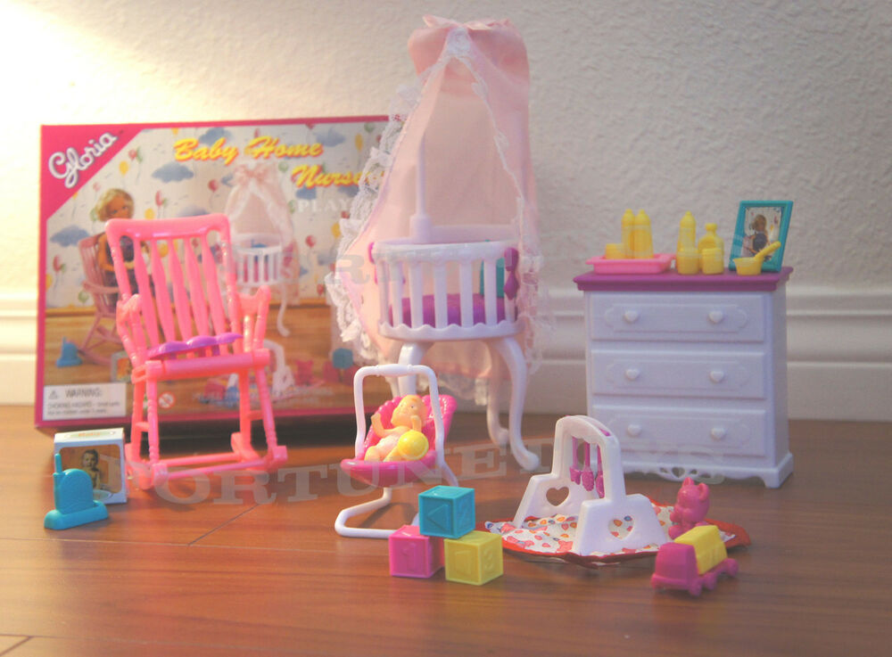 7 Inspiring Kid Room Color Options For Your Little Ones: Gloria Doll House Furniture Size Baby Home Nursery W Gym