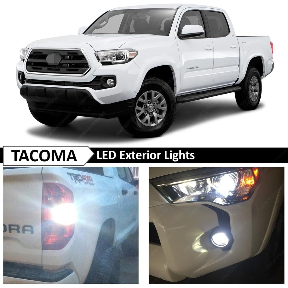 2016 Toyota Tacoma White Exterior Fog Backup License Plate Led Lights Package Ebay