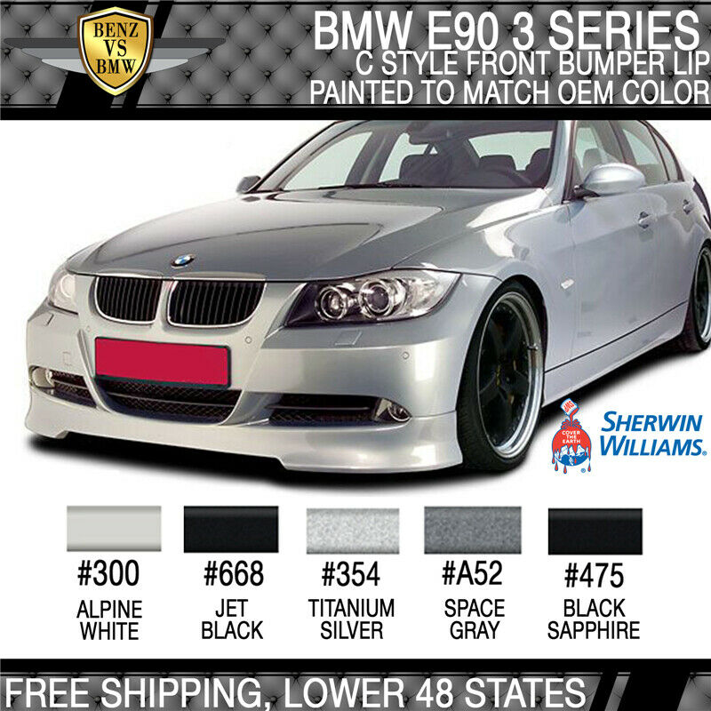Used 328i Bmw: 2005-2008 BMW E90 3 Series C Style Front Bumper Lip