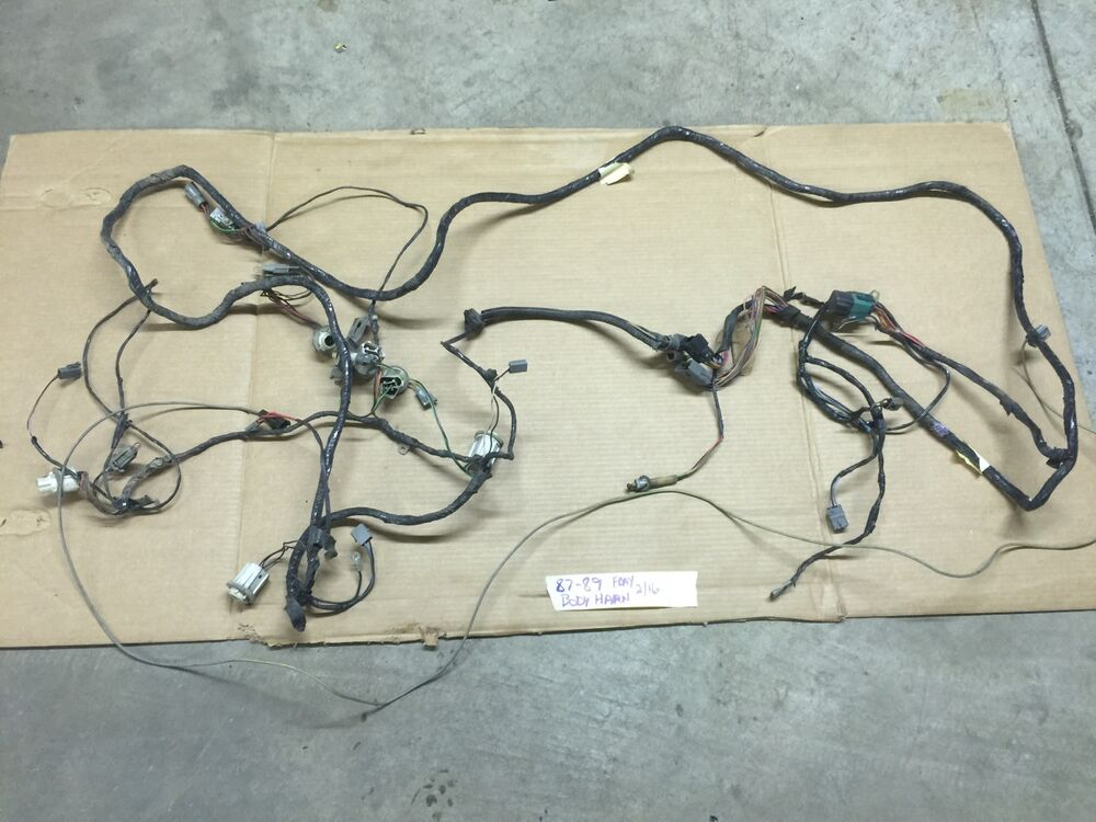 87 mustang wiring harness 87-89 ford mustang chassis body wiring harness tail light ... 87 mustang main harness wiring diagram free picture
