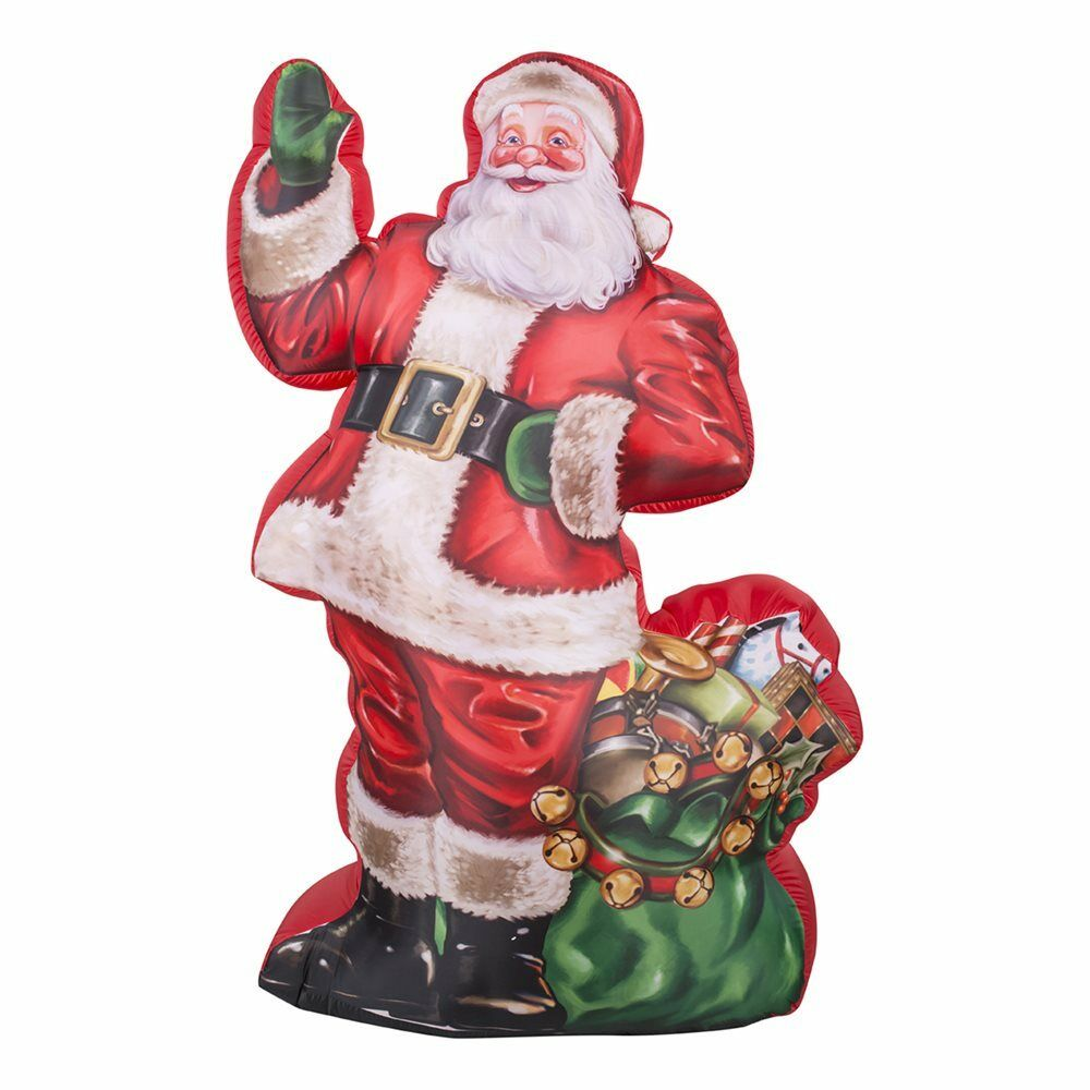 7' Gemmy Photorealistic Santa w/ Spot Light Airblown ...