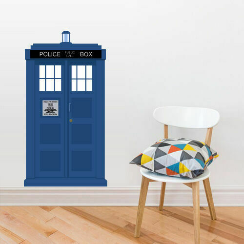 full color wall decal sticker doctor who tardis police box gift