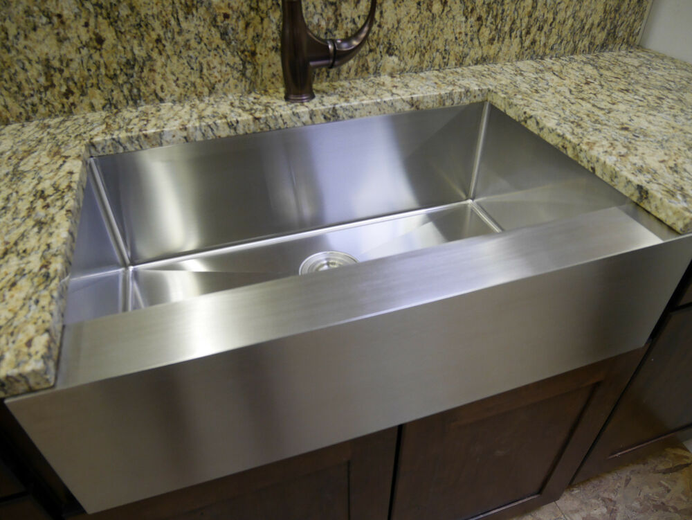 30 stainless steel farmhouse front apron single bowl Stainless steel farmhouse sink