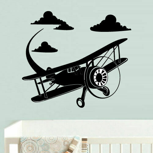 Wall Decal Vinyl Sticker Airplane Plane Aircraft Funny