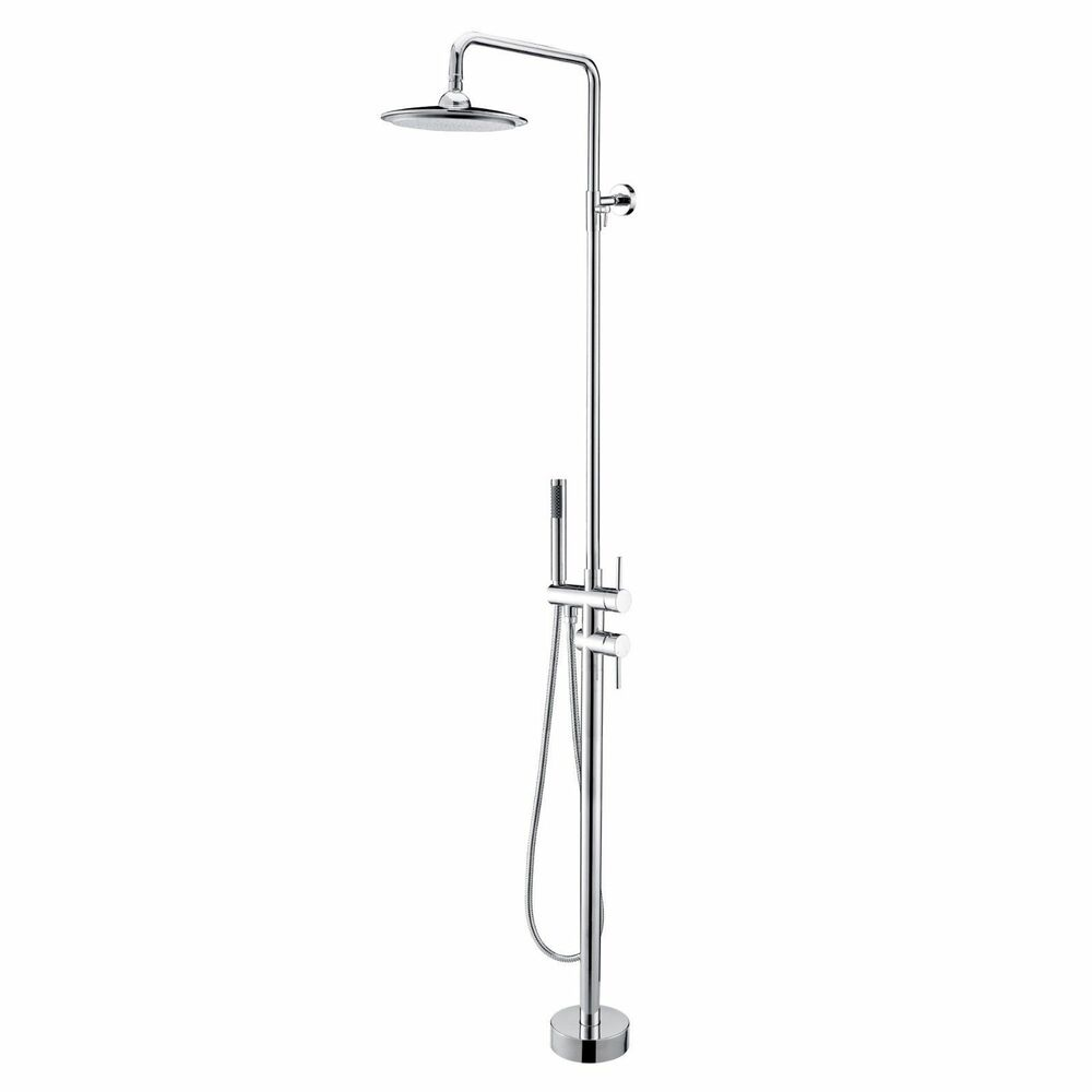 New Modern Floor Mounted Rain Shower Hand Shower Faucet In