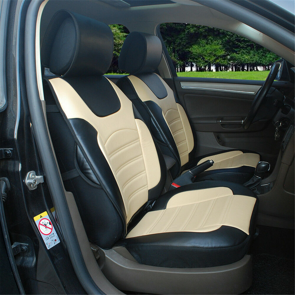 car seat cover cushion bktan leather 2bucket auto seat protector for mercedes ebay. Black Bedroom Furniture Sets. Home Design Ideas