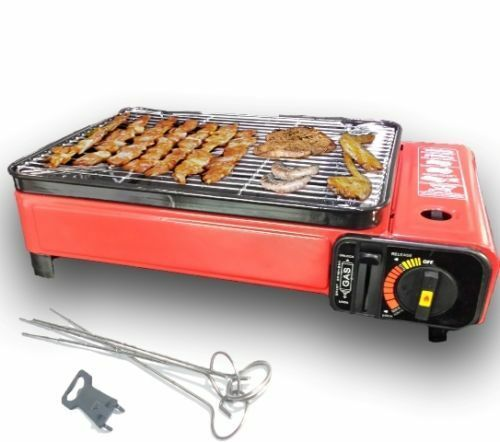 portable gas barbecue grill bbq camping table top cooker stove 1500w butane new ebay. Black Bedroom Furniture Sets. Home Design Ideas